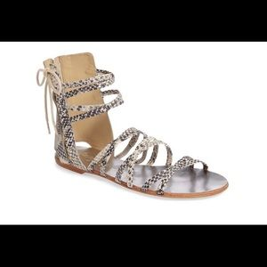 Free People Snakeskin Sandals size 38